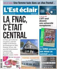 Portada de L'Est Eclair (Francia)