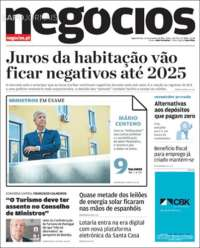 Portada de Jornal de Negócios (Portugal)