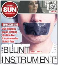 Portada de The Toronto Sun (Canada)