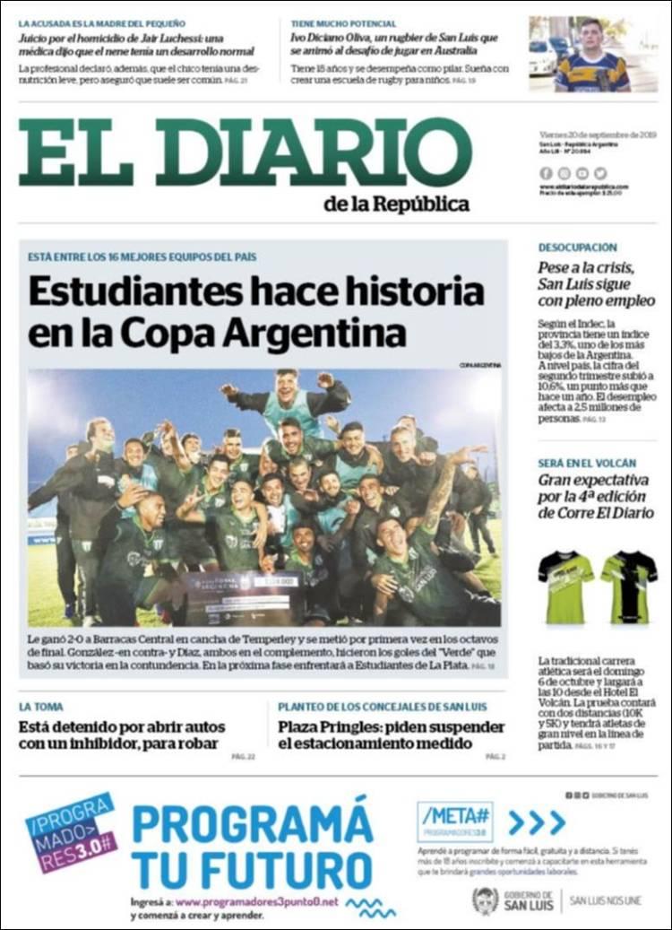 Periódico Diario de la República (Argentina). Periódicos de