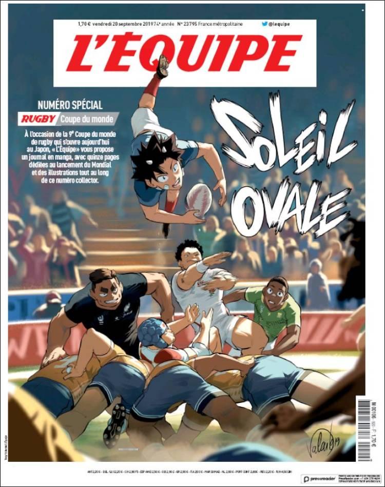 Portada de L'Equipe (Francia)
