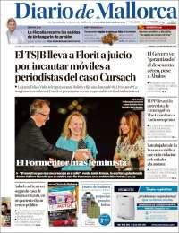 Portada de Diario de Mallorca (España)