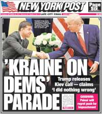 Portada de New York Post (USA)