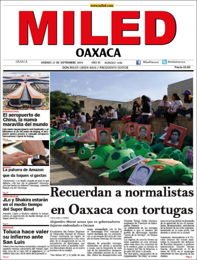 Portada de Miled - Oaxaca (Mexique)