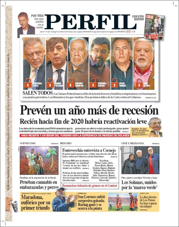 Portada de Diario Perfil (Argentine)
