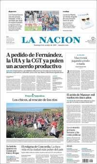 Portada de La Nación (Argentine)