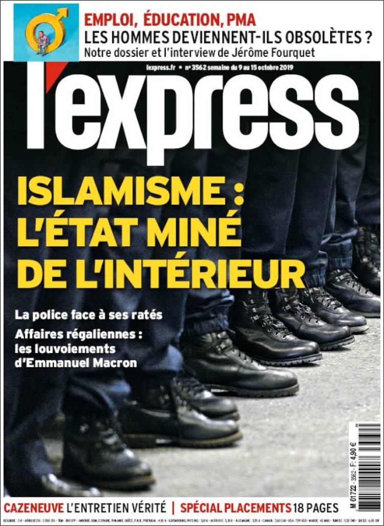 Portada de L'Express (Francia)