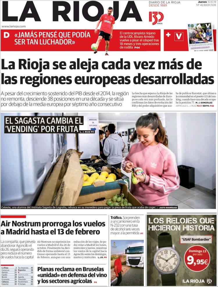 Portada de La Rioja (España)