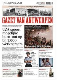 Portada de Gazet van Antwerpen (Belgium)