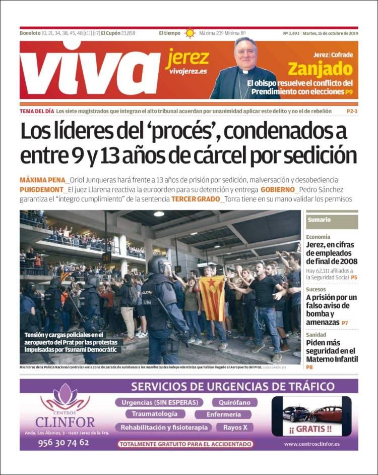 Portada de Viva Jerez (España)
