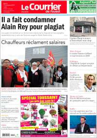 Portada de Le Courrier de l'Ouest (France)