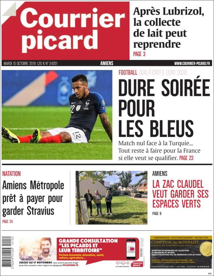 Portada de Courrier Picard (France)