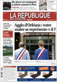 Portada de La République du Centre (France)