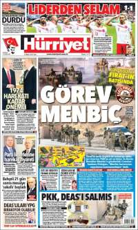 Portada de Hürriyet (Turkey)