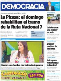 Portada de Diario Democracia (Argentina)