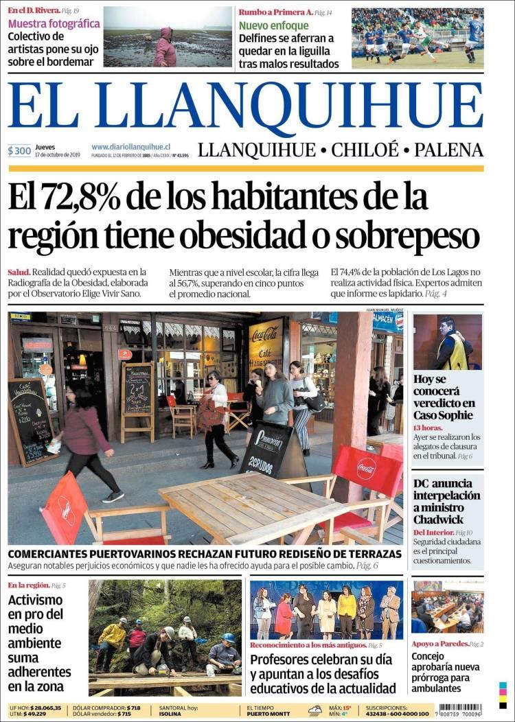 Portada de El Llanquihue (Chile)