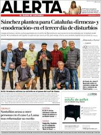 Portada de Alerta - El Diario de Cantabria (España)