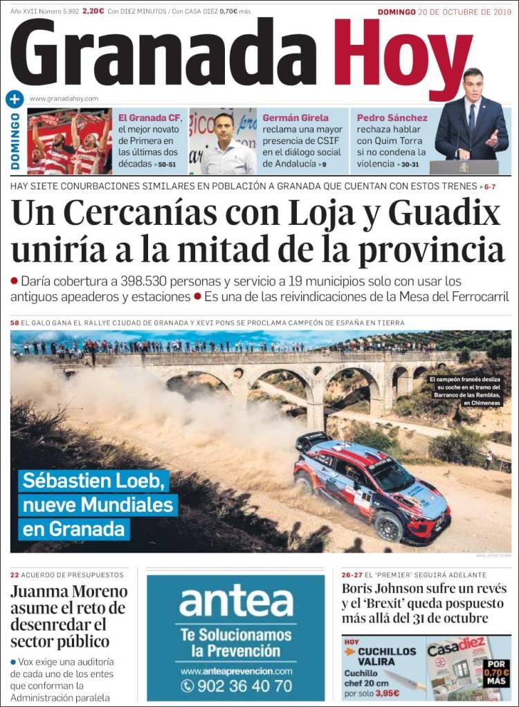 Portada de Granada Hoy (España)