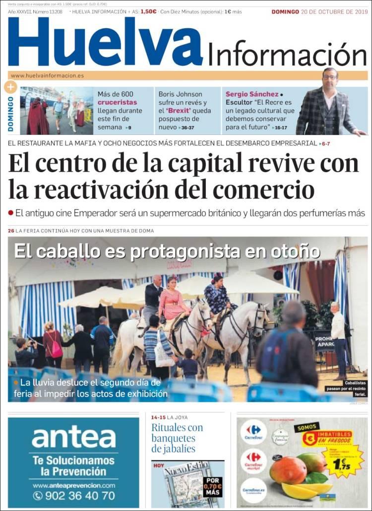 Portada de Huelva Información (España)