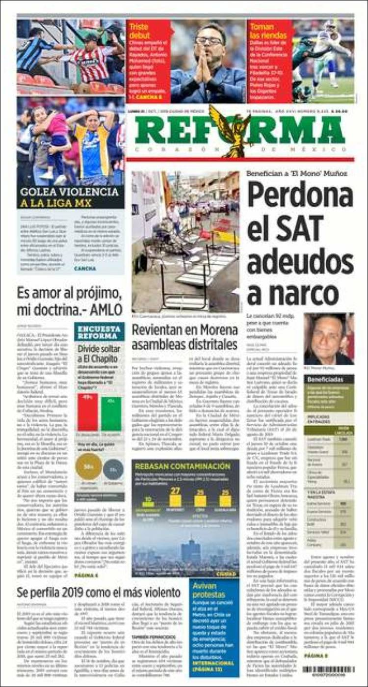 Portada de Reforma (Mexique)