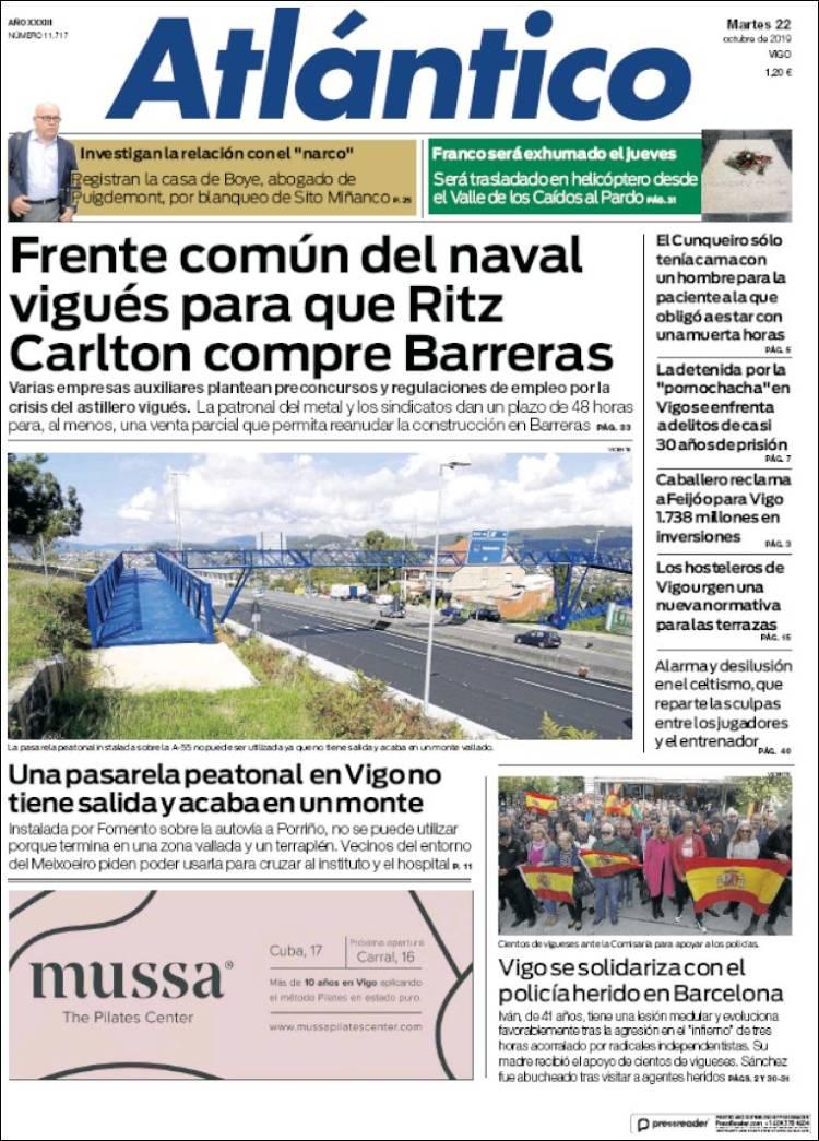 Periódico Atlántico Diario España Periódicos De España
