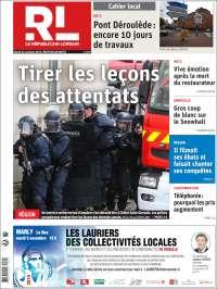 Portada de Le Republicain Lorrain (France)