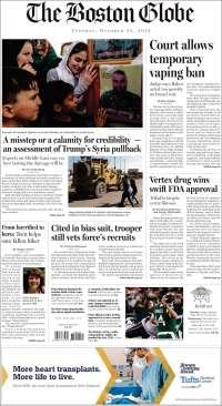 Portada de Boston Globe (États-Unis)