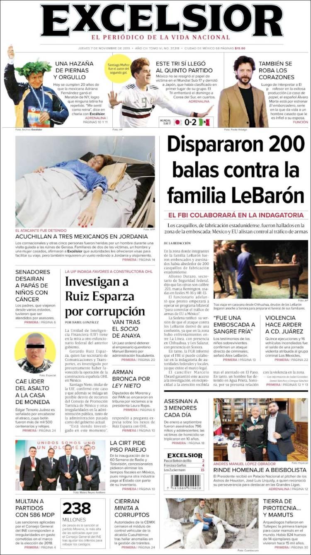 Periódico Excelsior México Periódicos De México Edición
