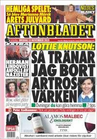 Portada de Aftonbladet (Suecia)