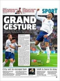 Portada de Metro Sport (United Kingdom)