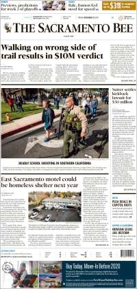 Portada de The Sacramento Bee (USA)