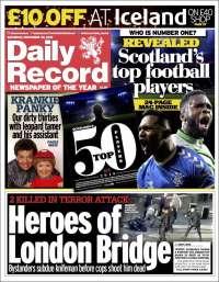Portada de Daily Record (United Kingdom)
