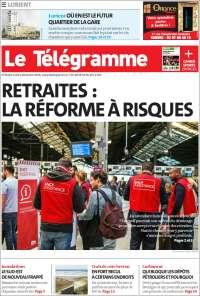 Portada de Télégramme (Francia)