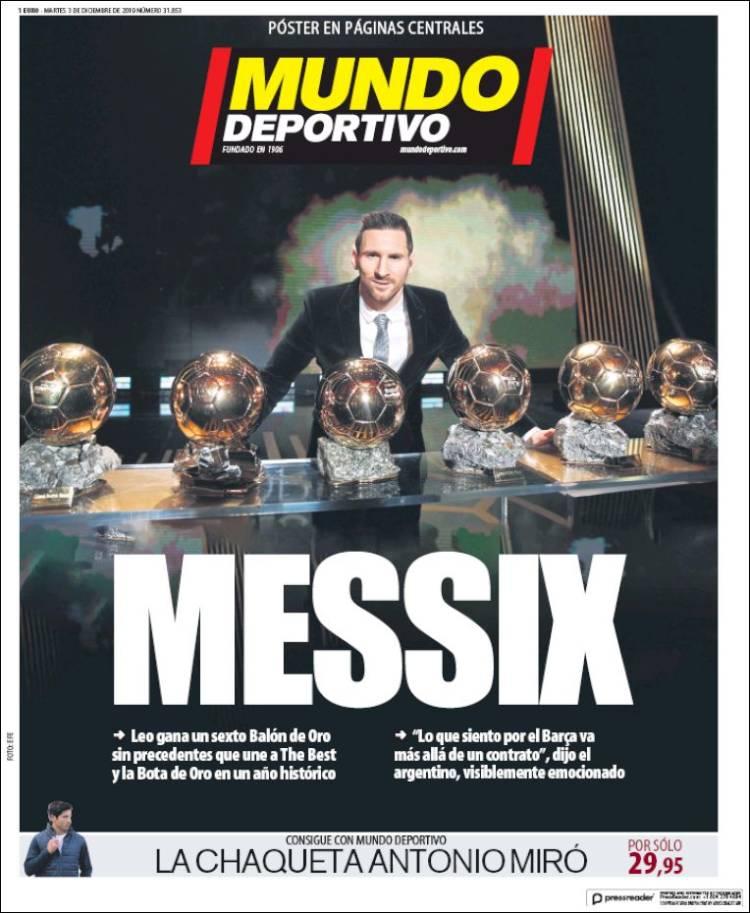 """""""У футбола есть только один Бог"""". Мировые СМИ - о шестом Золотом мяче Месси - изображение 2"""