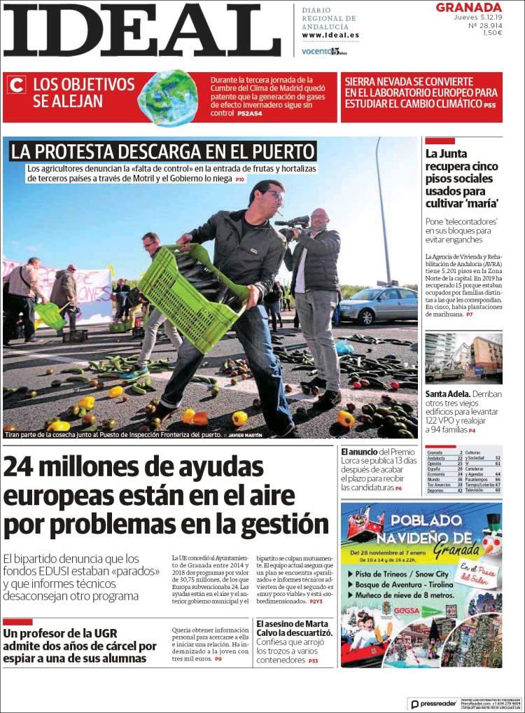 Portada de Ideal (España)