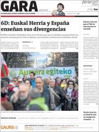Portada de Gara (España)