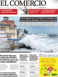 Portada de El Comercio (Spain)