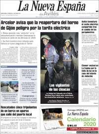Portada de La Nueva España - Avilés (Spain)