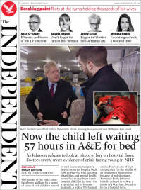 Portada de The Independent (United Kingdom)