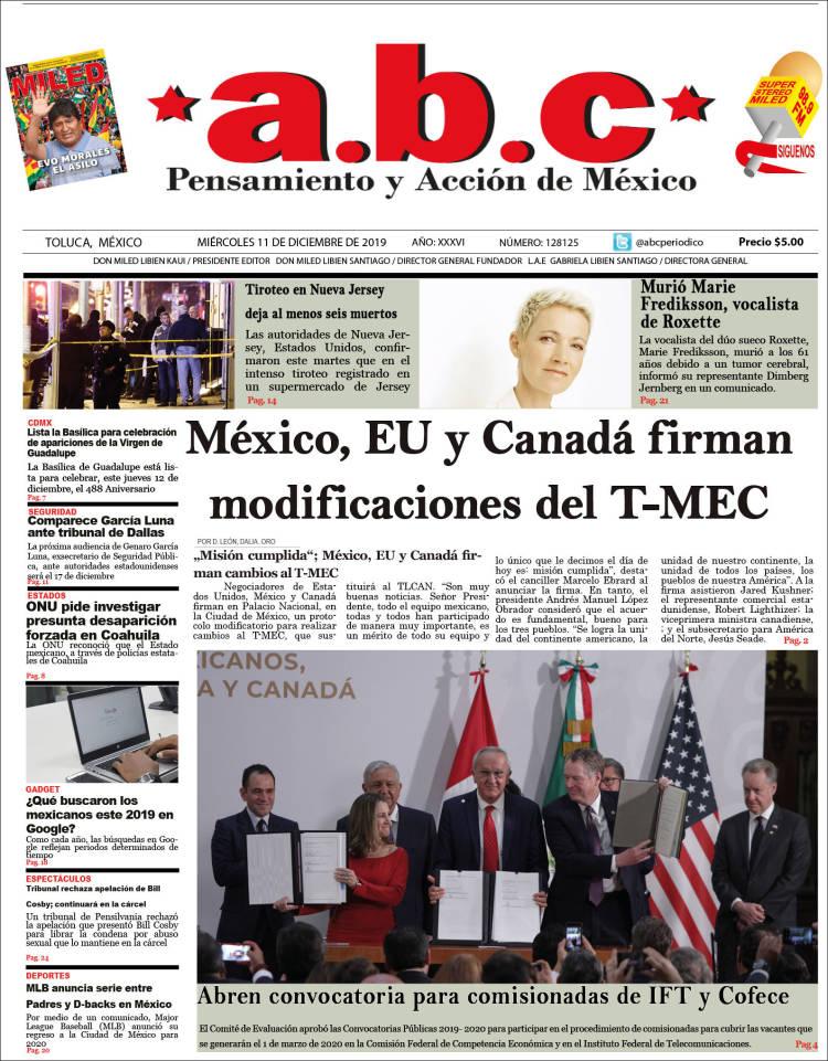 Portada de A.B.C.  (Mexico)