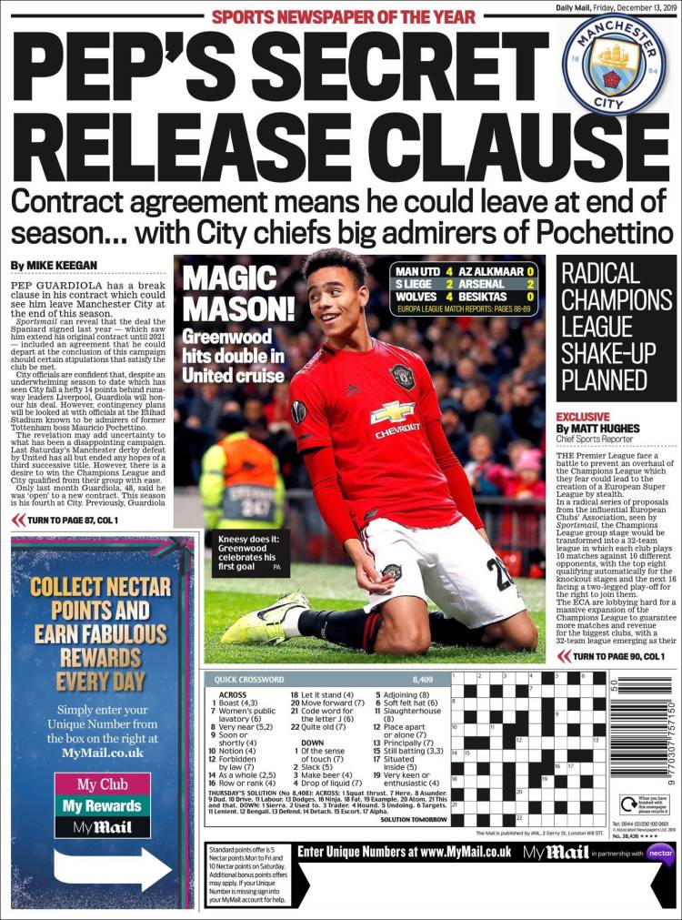 Portada de Daily Mail Sport (United Kingdom)