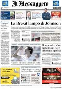 Portada de Il Messaggero (Italie)