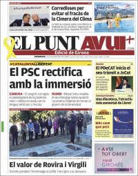 Portada de El Punt Avui - Girona (Spain)