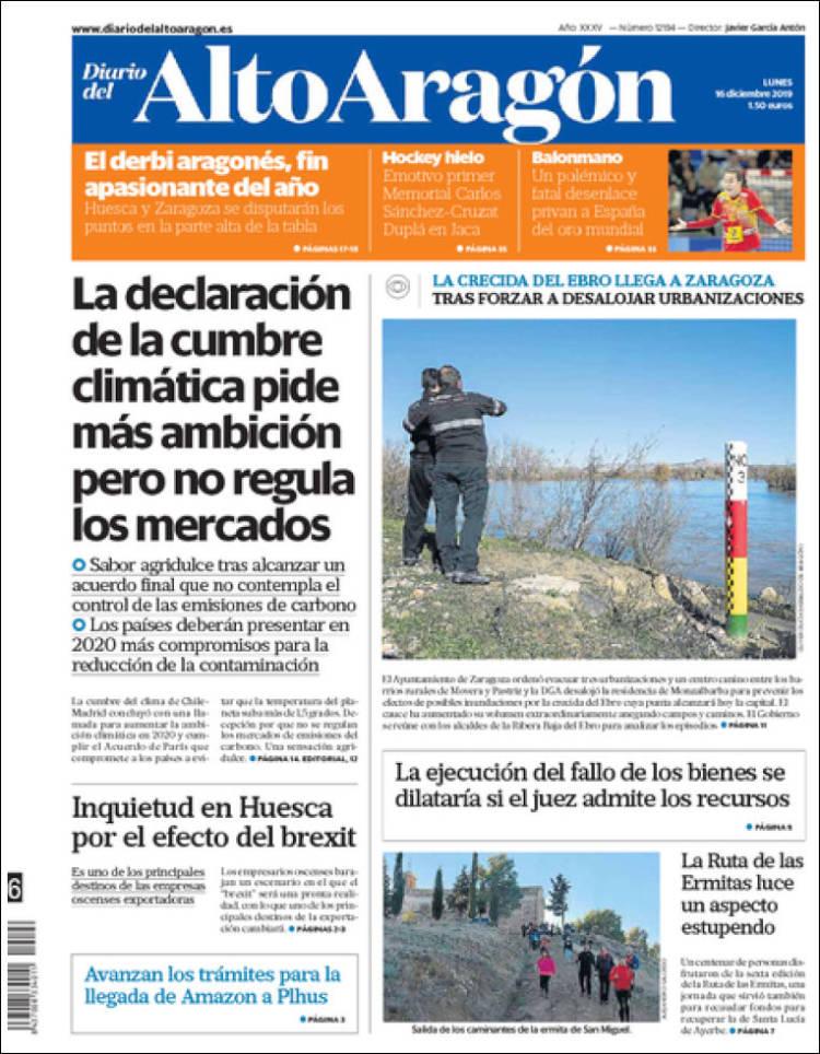 Portada de Diario del AltoAragón (Spain)