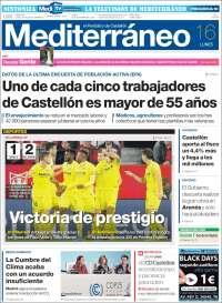 Portada de El Periódico Mediterraneo (Spain)
