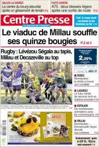 Portada de Centre Presse (France)