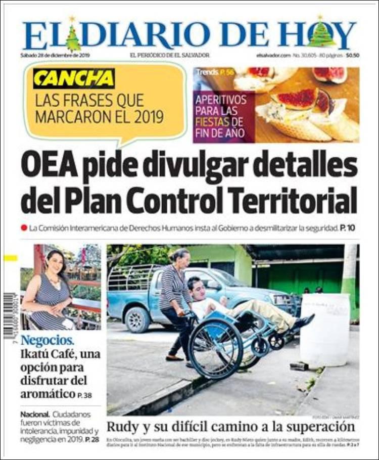 Periódico El Diario De Hoy El Salvador Periódicos De El
