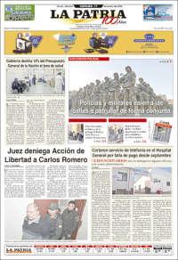 Portada de La Patria (Bolivia)