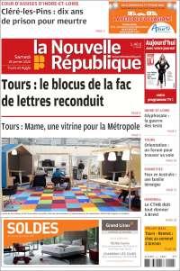 Portada de La Nouvelle Republique (France)