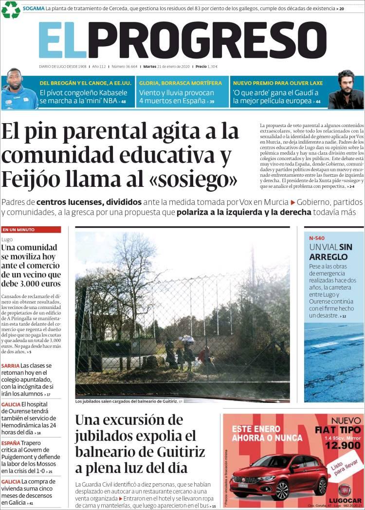 Portada de El Progreso (España)